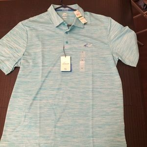 New Teal Large Greg Norman Golf Polo